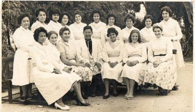 Filhas de Maria com o Frei Rosalvo