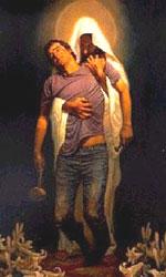 Jesus nos socorre e carrega nos braços