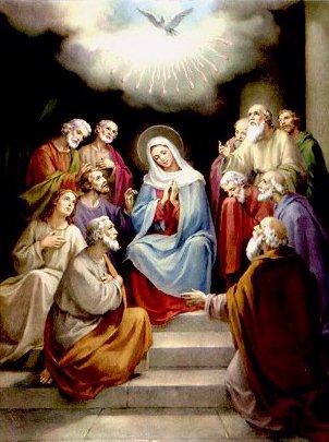 Pentecostes - A vinda do Espírito Santo
