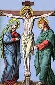 Maria e João aos pés da cruz